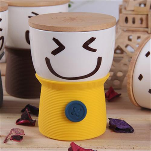 Smiley cup yellow